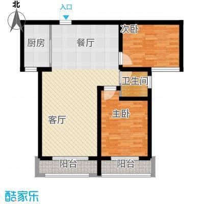 御龙瀚府105.00㎡13/17号楼―B2户型2室2厅1卫