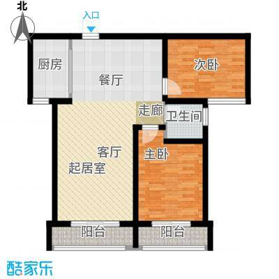 御龙瀚府103.00㎡13号楼户型2室2厅1卫