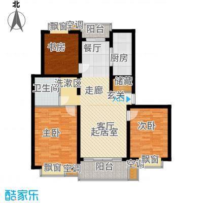 北港和景苑3房2厅1卫,面积约112平方米户型