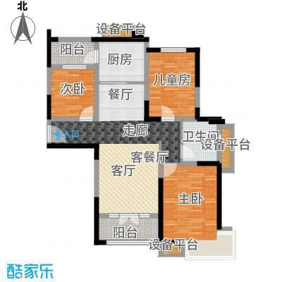 碧桂园滨海城116.00㎡J409-C 此户型已售罄户型3室2厅1卫