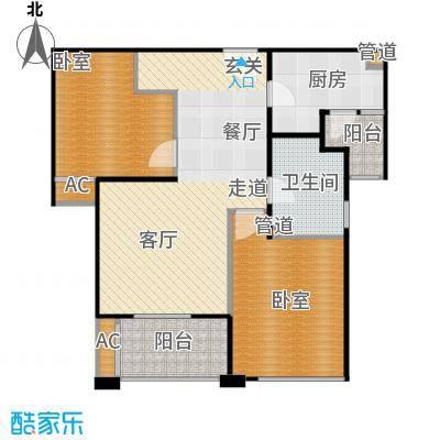 招商南桥1号86.00㎡A4户型两室两厅一卫户型