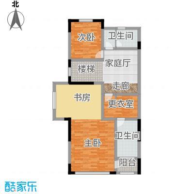 天保美墅林438.00㎡D二层户型1室2卫