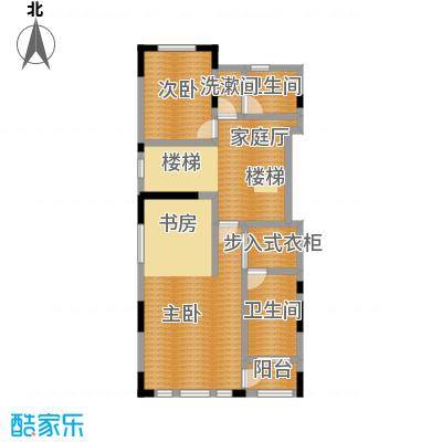 天保美墅林C二层户型2室2卫