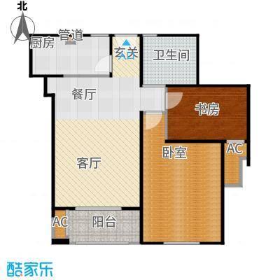 招商南桥1号80.00㎡二房二厅一卫-82平方米-80套户型