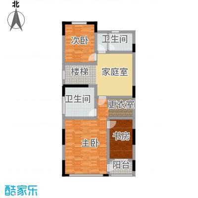 天保美墅林395.00㎡B二层户型3室1卫