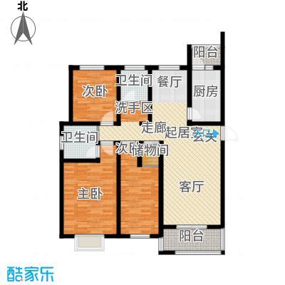 港东未来城133.21㎡B2户型3室2厅2卫