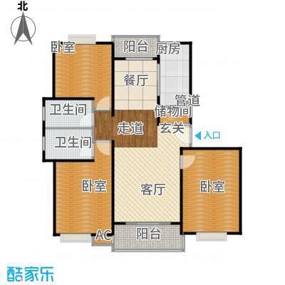 明城玫瑰园110.00㎡房型: 三房; 面积段: 110 -120 平方米;户型