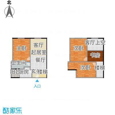 大旺・海印又一城83.87㎡C座 21单位 2-17层户型