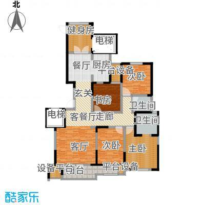 奥林清华御园户型4室1厅1卫