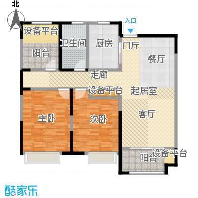 徽盐世纪广场D2户型两室两厅一卫户型2室2厅1卫