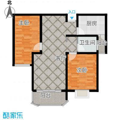 南阳澜湾盛景107.45㎡户型3室2厅1卫