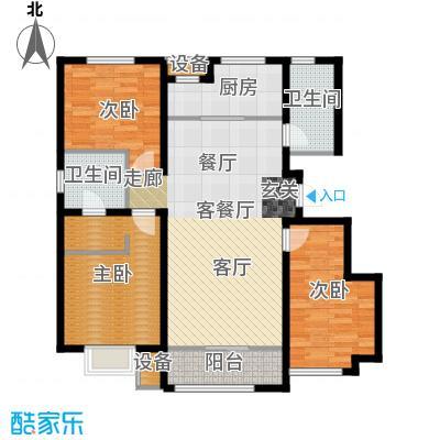 旭辉朗悦湾128.00㎡A户型3室2厅2卫