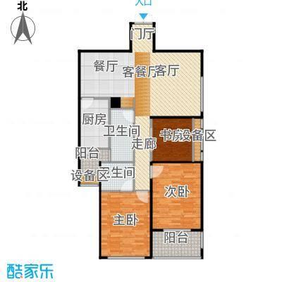 滨湖・明珠三房两厅两卫118.78m2户型