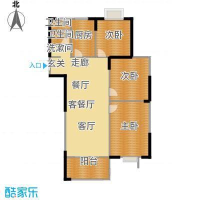 滨河新天地户型3室1厅2卫1厨