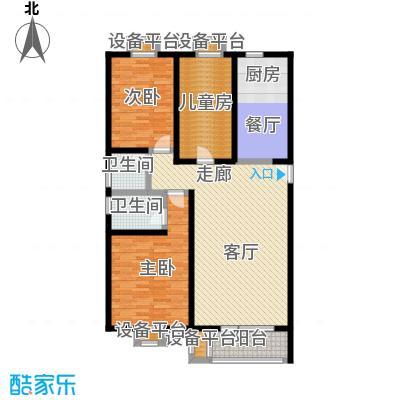 梨花江苑131.60㎡豪华三居户型3室2厅2卫