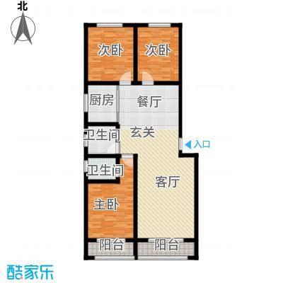 御龙瀚府133.00㎡户型3室2厅2卫