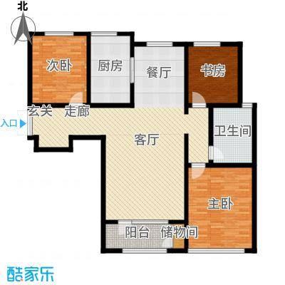 悦来新城133.00㎡C2户型3室2厅1卫