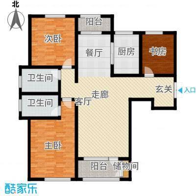 悦来新城139.00㎡A2户型3室2厅2卫