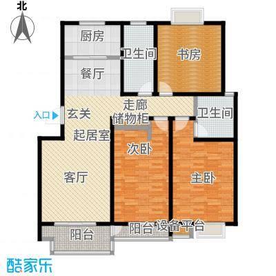 亚美国际花园126.00㎡三室两厅两卫1263室2厅2卫1厨 126.00㎡户型3室2厅2卫