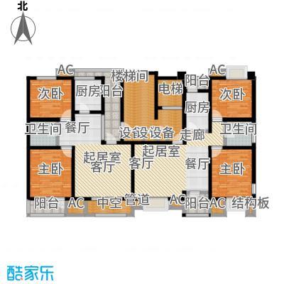福渔园枫尚河院91.76㎡二层户型2室2厅1卫
