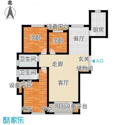 悦来新城139.00㎡A户型3室2厅2卫