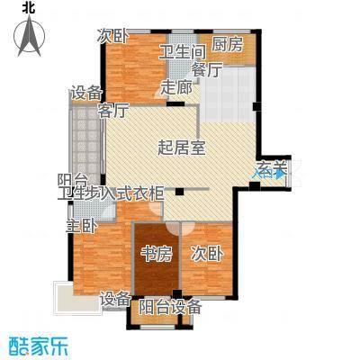 京华观邸162.51㎡7号楼 3号户型 四室两厅两卫户型