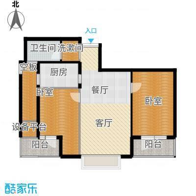 绿城御园105.00㎡高层G户型2室2厅1卫