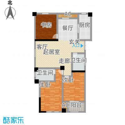 伟业迎春世家133.00㎡三房2厅2卫户型3室2厅2卫-T