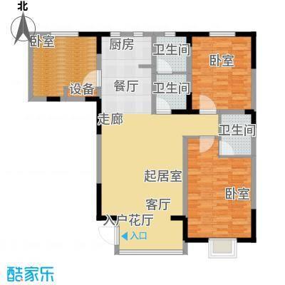 碧水庄园1#2#a户型3室2厅2卫