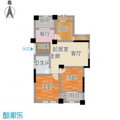 伟业迎春世家88.00㎡2+1房两厅1卫户型2室2厅1卫-T
