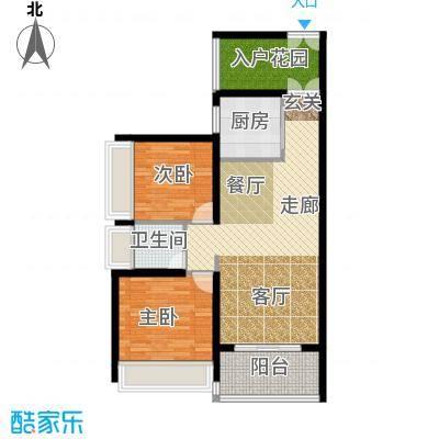 中兴花园二期87.52㎡C户型2室2厅