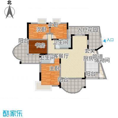 锦绣江山176.91㎡4室2厅户型