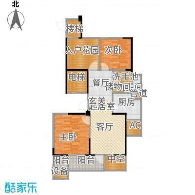 长江国际花园二期94.00㎡E2户型2室2厅1卫