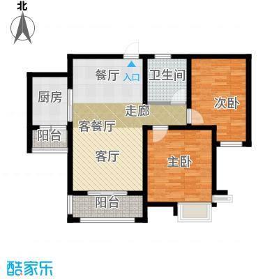 胜宏景苑99.00㎡C6户型2室2厅1卫