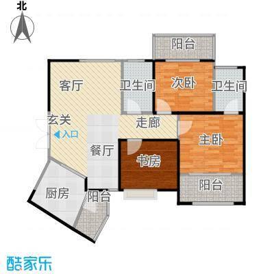 高新百悦城99.95㎡C2户型3室3厅2卫