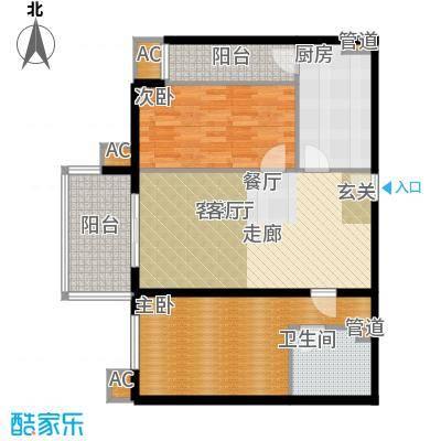 碧玉家园一期二房一厅一卫-90.89平方米、86.89平方米户型