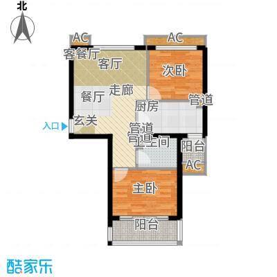 碧玉家园一期二室一厅一卫-78.41-82.83平米户型