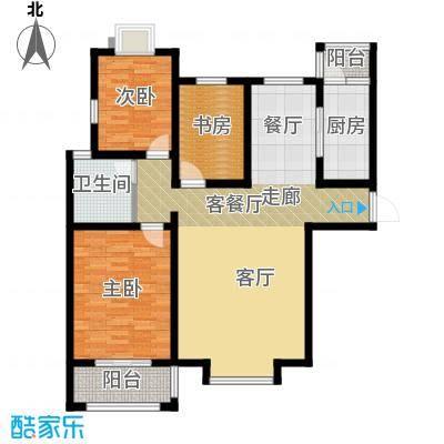 胜宏景苑135.00㎡C2户型2室2厅1卫