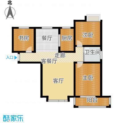 胜宏景苑128.00㎡A3户型2室2厅1卫