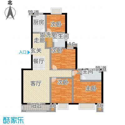 爱达花园紫藤园户型4室1厅2卫1厨