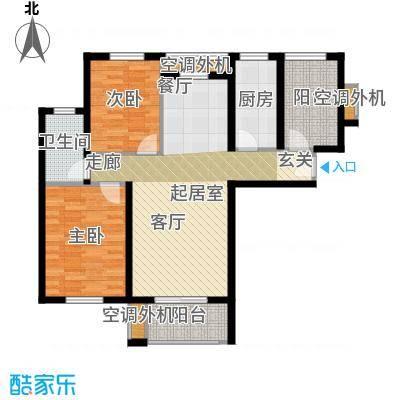 嘉友水岸观邸89.72㎡Gb7户型2室2厅1卫