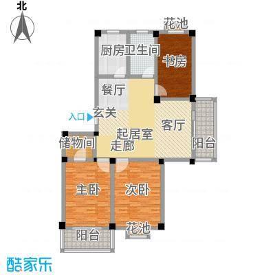 翡翠城C5户型3室1卫1厨