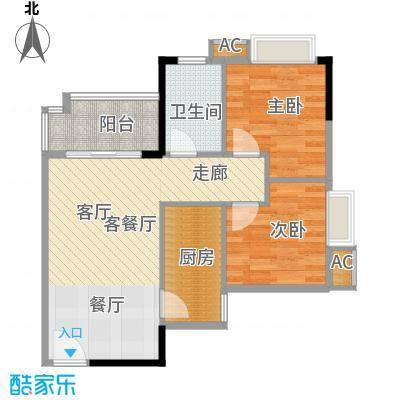 盛天龙湾64.48㎡2室2厅1卫