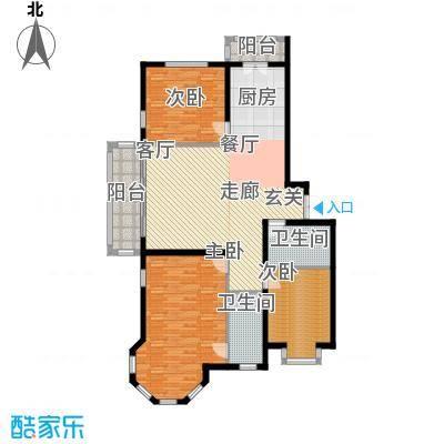 群力观江国际三室二厅使用面积110.01平米户型3室2厅