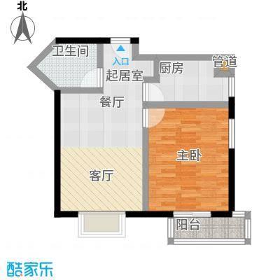 伊顿玫瑰公寓D户型 一室两厅一卫户型