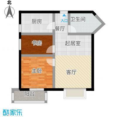 伊顿玫瑰公寓C型 两室两厅一卫户型