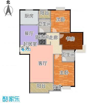 上海城市公寓135.00㎡三室二厅二卫135m2户型