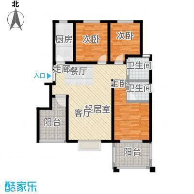 郑东宽景一品B-2户型3室2卫1厨