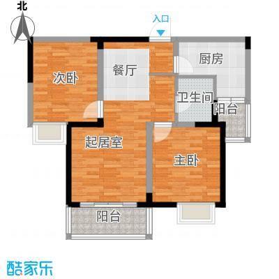 彩虹湖104.00㎡户型2室2厅1卫