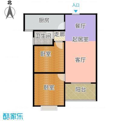 南阳南都秋实苑两室两厅一卫户型2室2厅1卫